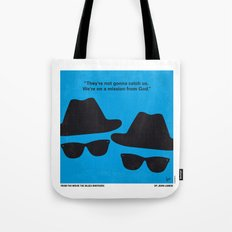 No012 My Blues brothers minimal movie poster Tote Bag