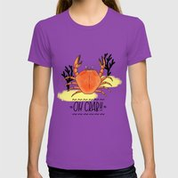 Oh Crab! Illustration Womens Fitted Tee Ultraviolet SMALL