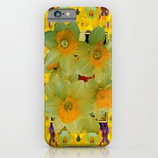 Spring Yellow Daffodis Garden Pattern iPhone 6 Slim Case