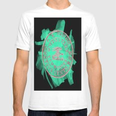 Post SMALL White Mens Fitted Tee
