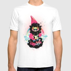 Whistling gnome SMALL White Mens Fitted Tee