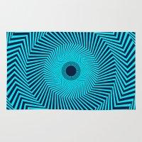 Circular Optical Illusion Rug