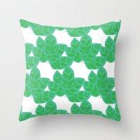 Peacock Plant Print Throw Pillow