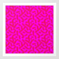 Hot Pink Cheese Doodles … Art Print