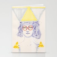 Yellow Triangles Stationery Cards