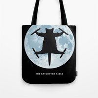 Catcopter Rises Tote Bag