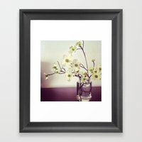 Dogwood Tree Branches Framed Art Print