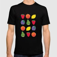 Fruits Mens Fitted Tee Black SMALL