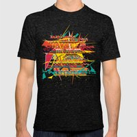 Aztec Pattern Mens Fitted Tee Tri-Black SMALL