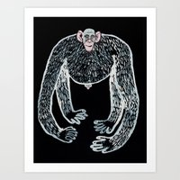 Ape And His Little Frien… Art Print