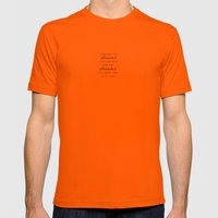 sometimes the dreams Mens Fitted Tee Orange SMALL