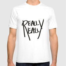 Really, Really Mens Fitted Tee SMALL White