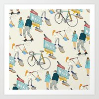 Tonys Bike Shop Art Print