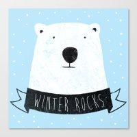 Winter Rocks Canvas Print