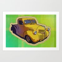Dodge pickup truck Art Print