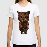 Hipster Cat Womens Fitted Tee Ash Grey SMALL