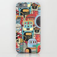 iPhone & iPod Case featuring Two monkeys in town by Exit Man