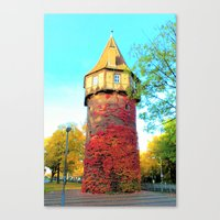 Tower In Autumn Canvas Print