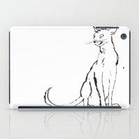 Skinny cat illustration iPad Case