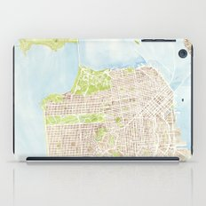 San Francisco CA City Map  iPad Case