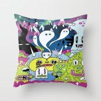 Spooky Spirits  Throw Pillow