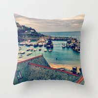 Grey Clouds Above The Fe… Throw Pillow