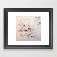over around under and through Framed Art Print