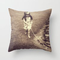 Alice and Dinah Throw Pillow