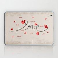 Love, Butterfly Hearts &… Laptop & iPad Skin