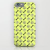 iPhone & iPod Case featuring Paw Prints & Bones by All Is One