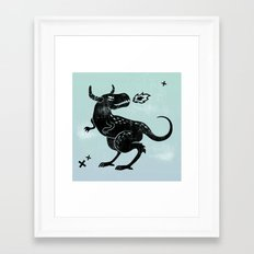 Fire monster Framed Art Print
