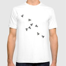 The Flies White Mens Fitted Tee SMALL