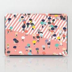 Crossing The Street On a Rainy Day iPad Case