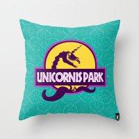 Unicornis Park Throw Pillow