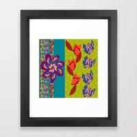 Waterfall Stripes Framed Art Print