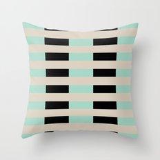 Tan Black Mint Checkerboard Throw Pillow