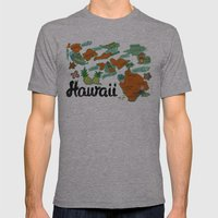 HAWAII Mens Fitted Tee Athletic Grey SMALL