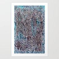Snow Pines Art Print