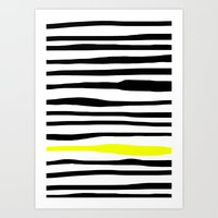 Neon zebra stripes Art Print