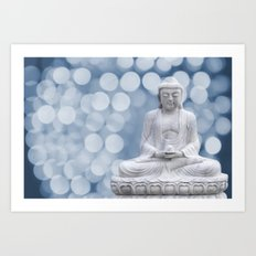 Buddha light blue  Art Print