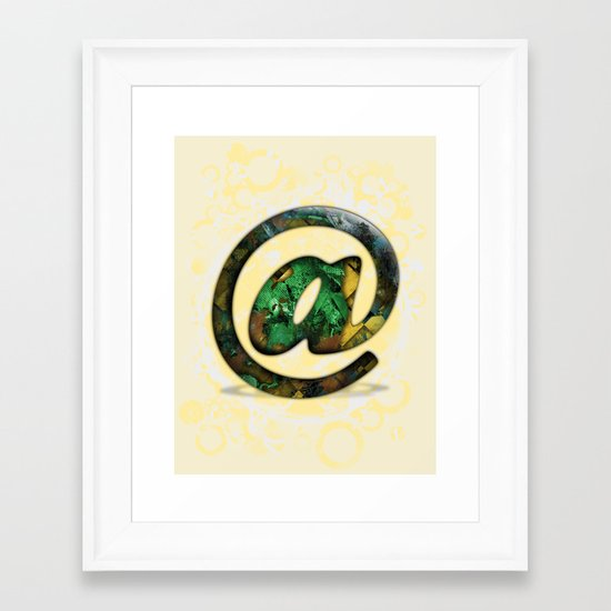 At Sign {@} Series - Cooper Std Typeface Framed Art Print