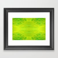 Yellow And Green Stripes Framed Art Print