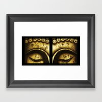 Buddha Eyes Diptych  Framed Art Print