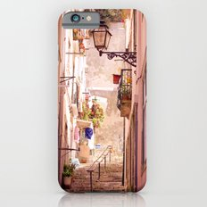 the narrow street in lisbon iPhone 6s Slim Case