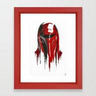 Procrastination In Red 3 Framed Art Print