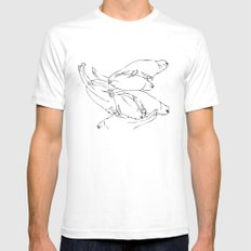 Birdsong 6 Mens Fitted Tee SMALL White