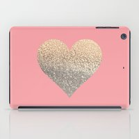 GOLD HEART CORAL iPad Case
