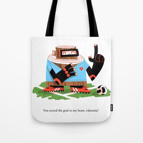 Wooden Robot Valentine Tote Bag
