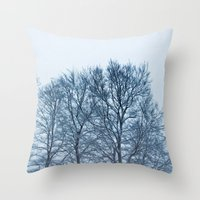 Trees In The Snowfall Throw Pillow