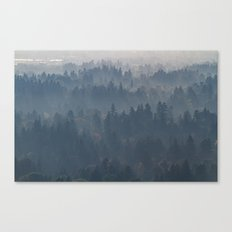 Hazy Layers Canvas Print